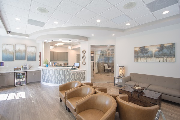 The lobby of Lanier Valley Dentistry